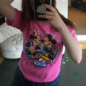 Vibrant Pink Minnie and Mickey shirt 💕